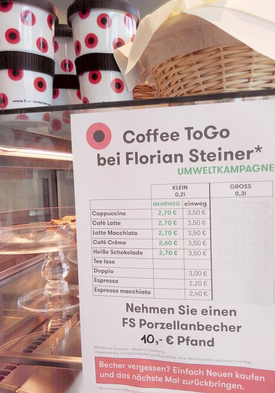 Infoblatt zur Umweltkampagne mit Florian Steiner Kaffee