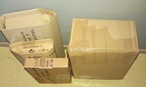 Verpackte und versandfertige Buchpakete der Auktion