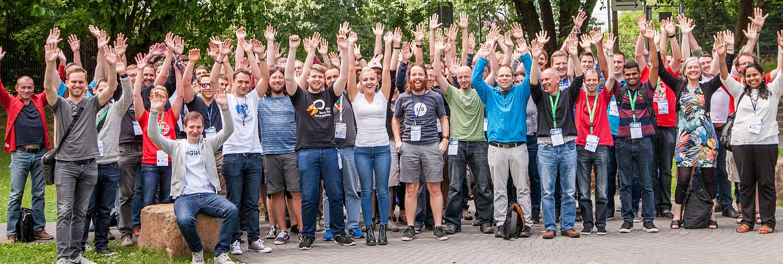 Gruppenfoto der Teilnehmenden der DrupalBCDays Heidelberg 2017