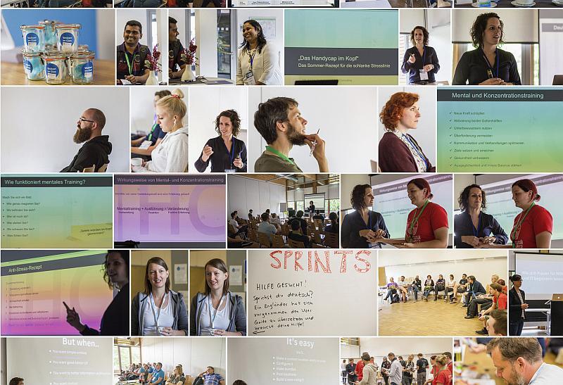 Mosaik verschiedener Fotos der Veranstaltung