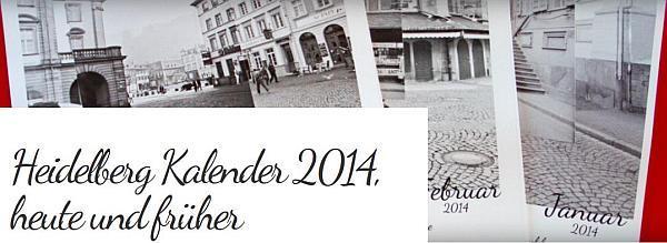Drei Kalenderblätter des neuen Heidelberg-Kalenders liegen übereinander mit Schriftzug des Kalendertitels