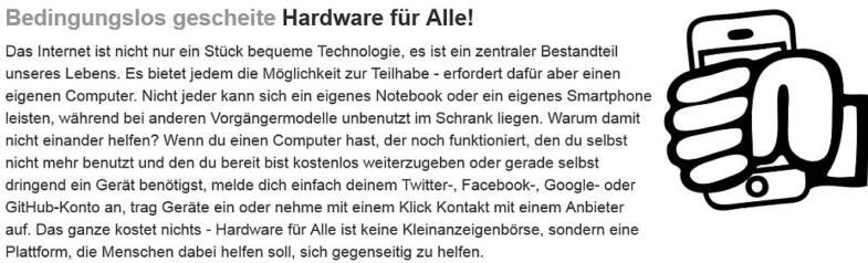 Beschreibung und Logo von Hardware-fuer-alle.de