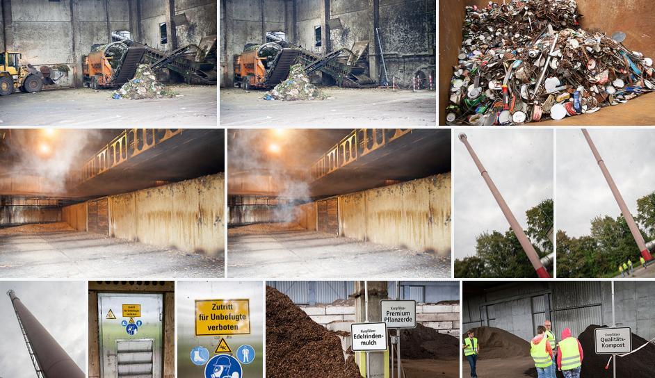 Ein Teil der Fotos von der Führung über das Kompostwerk in Heidelberg, ein Klick bringt Dich zum Fotoalbum