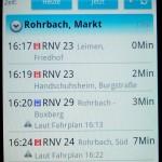 Bildschirmfoto VRN-Companion-Abfahrten