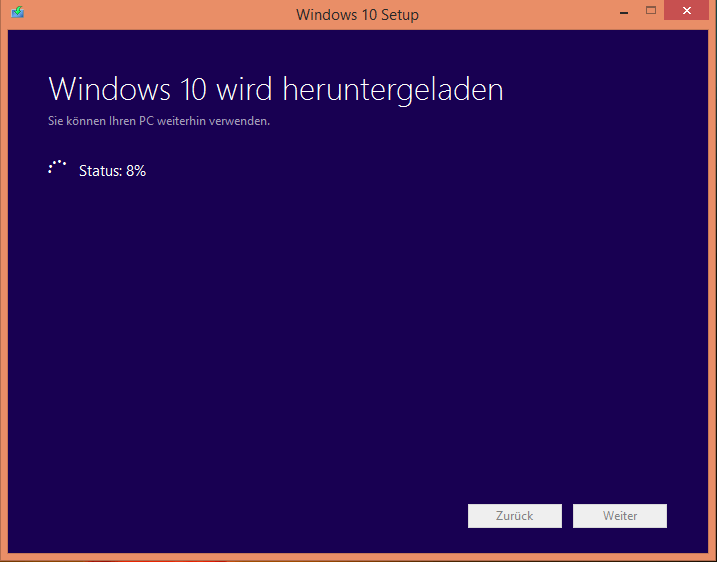 Windows Installation mittels Tool zur Medienerstellung