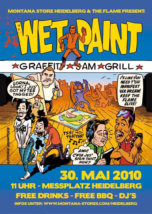 Plakat des Wet Paint Jams 2010